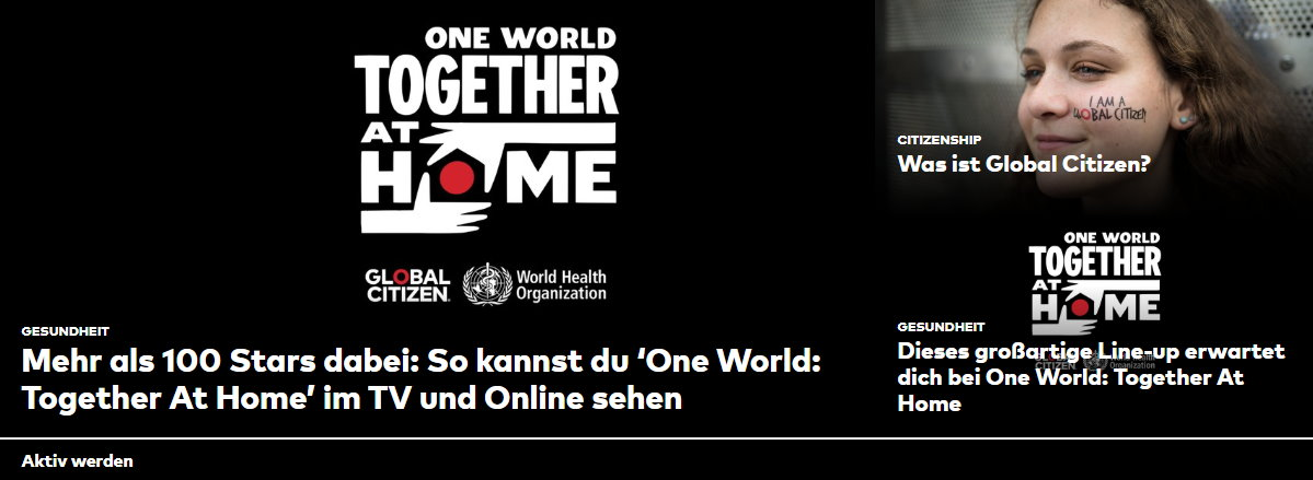 "Corona-Konzert ""One World: Together at Home"" ein voller Erfolg"